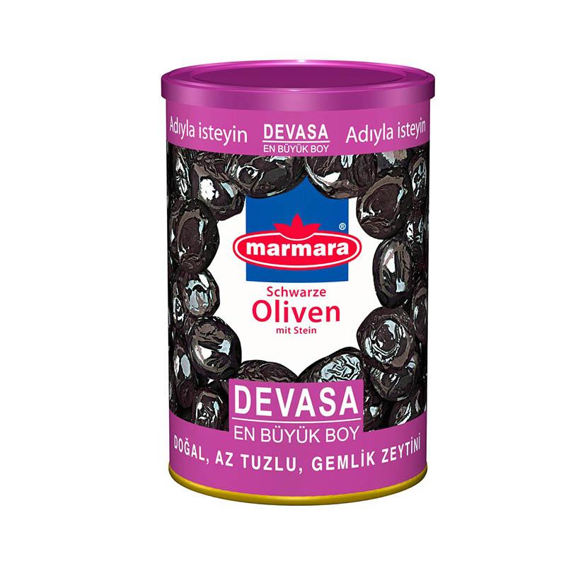 marmara Schwarze Oliven mit Stein L 800g.jpg